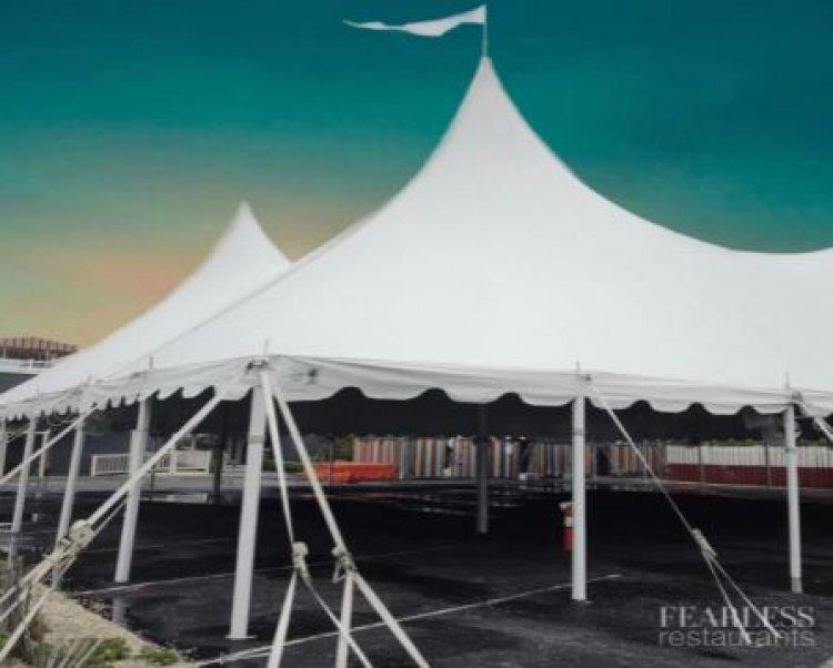 EventQuip Successfully Installs 6400 Sq. Ft Tented Restaurant Solution
